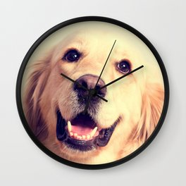 Home Is Where Your Golden Is Wall Clock