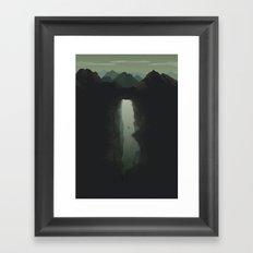 The Last Dive of David Shaw Framed Art Print