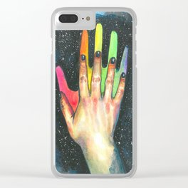 Hand study #5. Finding rainbow Clear iPhone Case