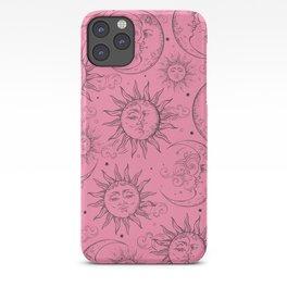 Pink Magic Celestial Sun Moon Stars iPhone Case