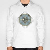 compass Hoodies featuring Compass by dhansonart