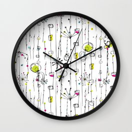 Quirky Icons Wall Clock