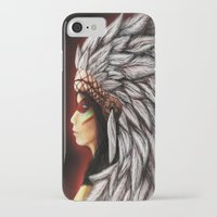 native american iPhone & iPod Cases featuring Native by PanDuhVka