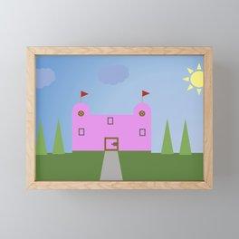 Pink Fairy Castle Framed Mini Art Print