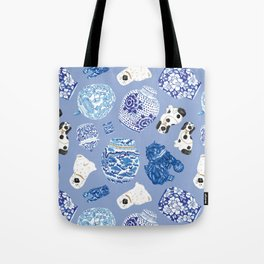 Chinoiserie Curiosity Cabinet Toss 7 Tote Bag