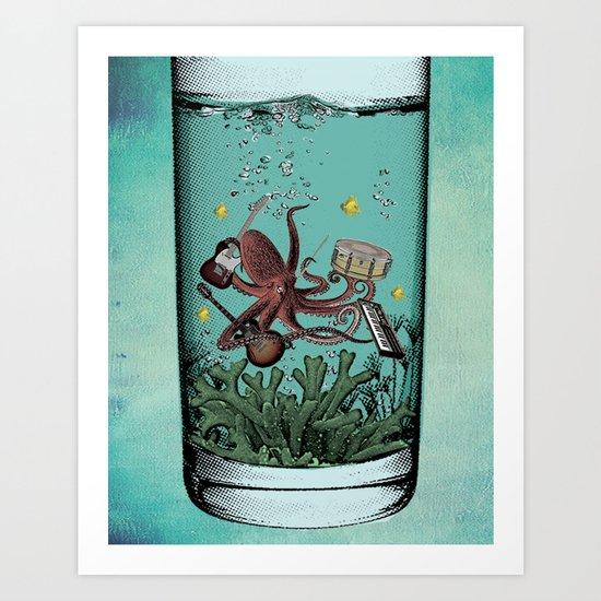Musical Octopus Print Art Print