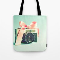 forever young Tote Bags featuring Forever young  by Caroline Mint