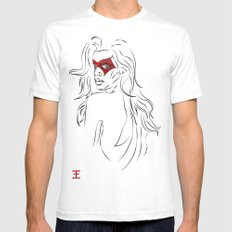 Masked Woman Mens Fitted Tee LARGE White