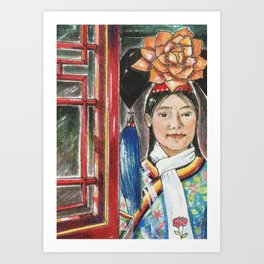 beijing hostess Art Print