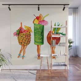 Tiki Cocktail Pin-Ups Wall Mural