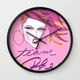 Team Rhea A la Pink Wall Clock