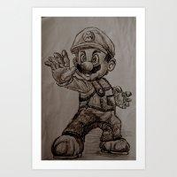 mario Art Prints featuring Mario by Hannahcat