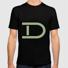 D 001 Mens Fitted Tee MEDIUM Black