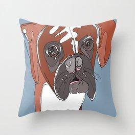 My Sad Boxer Dog Throw Pillow