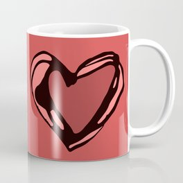 Heartley - coral Coffee Mug