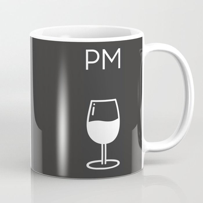 Am Pm - Kitchen poster - Coffee & Wine Decor - Home decor - Wall art - Am  Pm sign - Wine sign Coffee Mug by fingerartprints