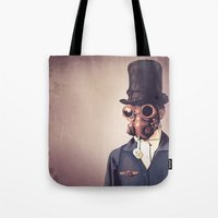 steampunk Tote Bags featuring Steampunk by FalcaoLucas