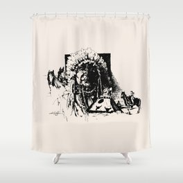 Indians Shower Curtain