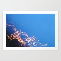 Firefight. Art Print