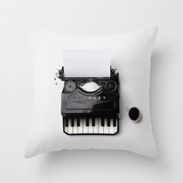 On a musical note Throw Pillow