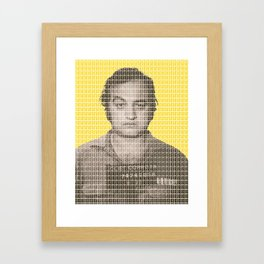Jake Blues Mug Shot - Yellow Framed Art Print