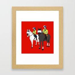 London Metropolitan Horse Cops Framed Art Print