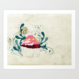 Cupcake without the Guilt  Art Print