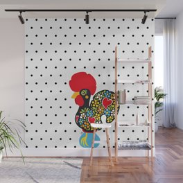 Famous Rooster of Barcelos 01 | Lucky Charm & Polka Dots Wall Mural