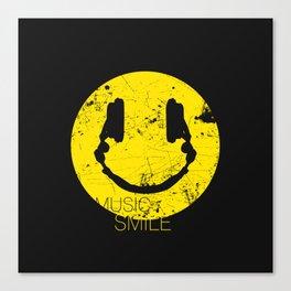 Music Smile Canvas Print