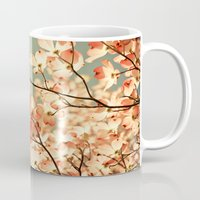 trees Mugs featuring Pink by Olivia Joy StClaire