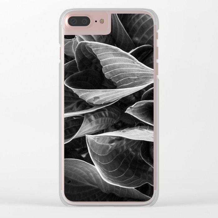 Flower | Flowers | Black Hostas | Goth Plant | Nature Art Clear iPhone Case