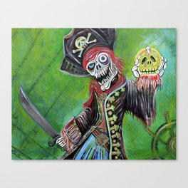 Pirate Quest - The Golden Skull Canvas Print