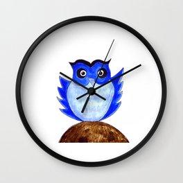 The Blue Owl Wall Clock