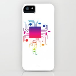 Perfect Gift Coding Tee For Programmer T-shirt Design Computer Code Programming Motherboard Cpu iPhone Case