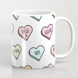 Sassy Valentines Candy Heart Pattern Coffee Mug