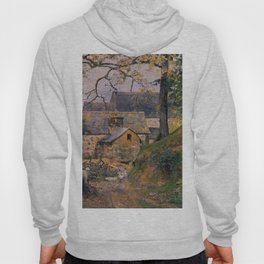Farm At Montfoucault 1874 By Camille Pissarro | Reproduction | Impressionism Painter Hoody
