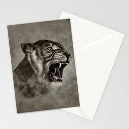Roaring Liger - Digital Art Stationery Cards