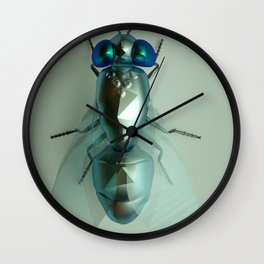 3d Jewely Fly Wall Clock