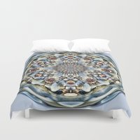 seashell Duvet Covers featuring Seashell Orb by Cindi Ressler Photography