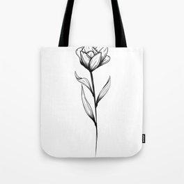 Lone Tulip Tote Bag