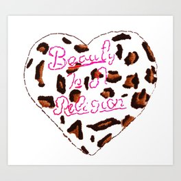BeautyIsAReligion `Leopard Heart` Art Print