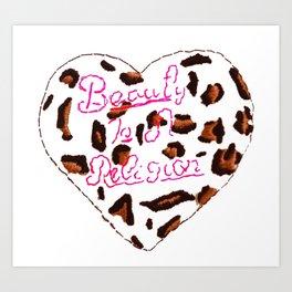 BeautyIsAReligion `Leopard Heart` Art Print