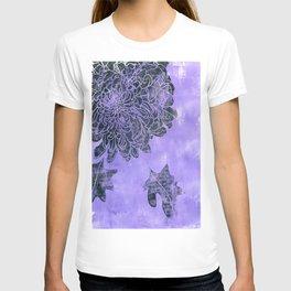 black dahlia in purple: violet T-shirt