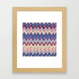 Bold zig-zags Framed Art Print