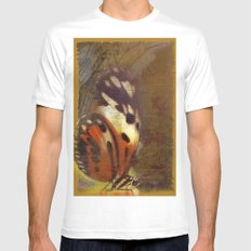 Butterfly  Mens Fitted Tee White MEDIUM
