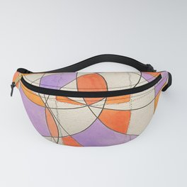 Orange Purple Squiglee 2 Fanny Pack