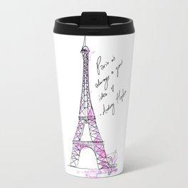 Eiffel Tower: Audrey Hepburn Travel Mug