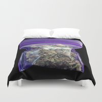 cannabis Duvet Covers featuring gram of cannabis by HiddenStash Art