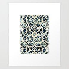 tile pattern - Portuguese azulejos Art Print