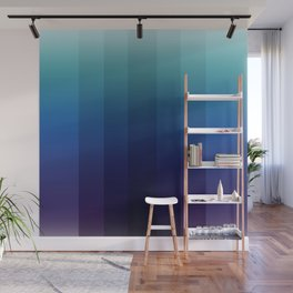 Steps 2-Blue Ombre Wall Mural